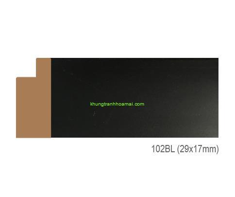 Khung hình tự chọn thương hiệu phào nẹp Hoa Mai mã 102BL