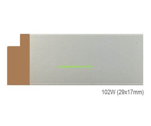 Mẫu khung tranh Khung hình tự chọn thương hiệu phào nẹp Hoa Mai mã 102W