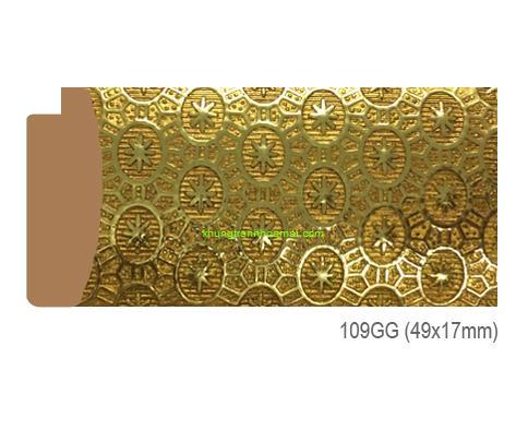 Khung hình tự chọn thương hiệu phào nẹp Hoa Mai mã 109GG