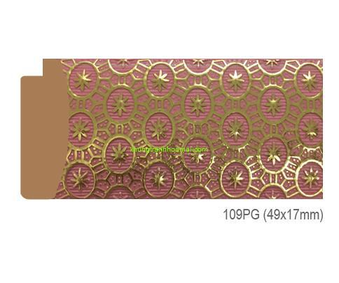 Mẫu khung tranh Khung hình tự chọn thương hiệu phào nẹp Hoa Mai mã 109PG