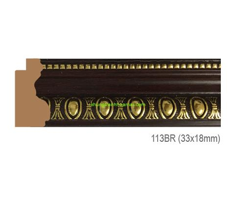 Mẫu khung tranh Khung hình tự chọn thương hiệu phào nẹp Hoa Mai mã 113BR