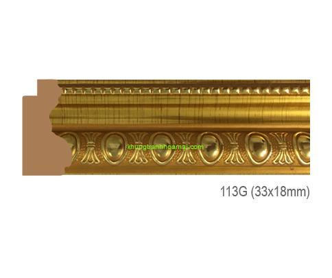 Mẫu khung tranh Khung hình tự chọn thương hiệu phào nẹp Hoa Mai mã 113G