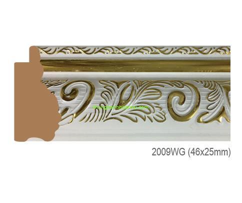 Khung hình tự chọn thương hiệu phào nẹp Hoa Mai mã 2009WG