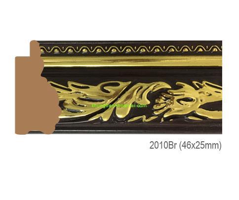 Khung hình tự chọn thương hiệu phào nẹp Hoa Mai mã 2010BR