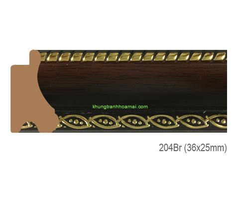Mẫu khung tranh Khung hình tự chọn thương hiệu phào nẹp Hoa Mai mã 204BR