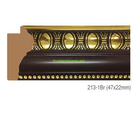 Mẫu khung tranh Khung hình tự chọn thương hiệu phào nẹp Hoa Mai mã 213-1BR