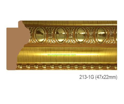Mẫu khung tranh Khung hình tự chọn thương hiệu phào nẹp Hoa Mai mã 213-1G