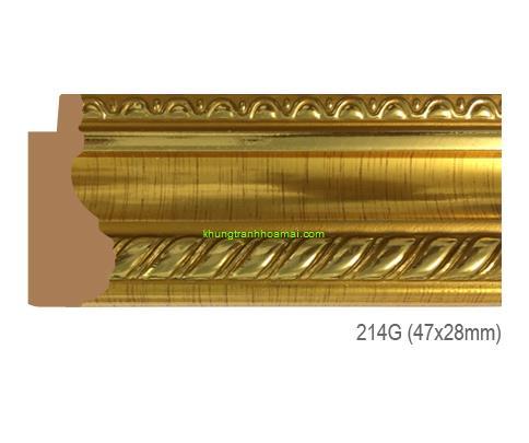 Mẫu khung tranh Khung hình tự chọn thương hiệu phào nẹp Hoa Mai mã 214G