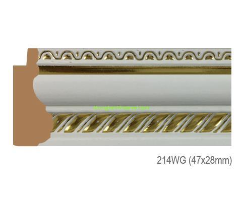 Mẫu khung tranh Khung hình tự chọn thương hiệu phào nẹp Hoa Mai mã 214WG