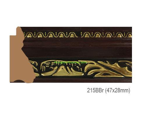 Mẫu khung tranh Khung hình tự chọn thương hiệu phào nẹp Hoa Mai mã 215BBR