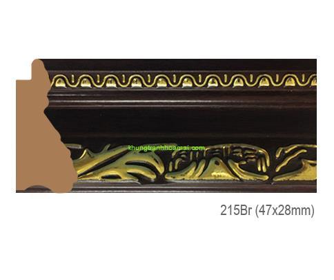 Mẫu khung tranh Khung hình tự chọn thương hiệu phào nẹp Hoa Mai mã 215BR