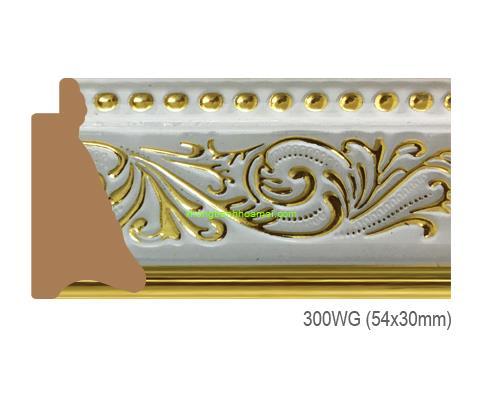 Mẫu khung tranh Khung hình tự chọn thương hiệu phào nẹp Hoa Mai mã 300WG