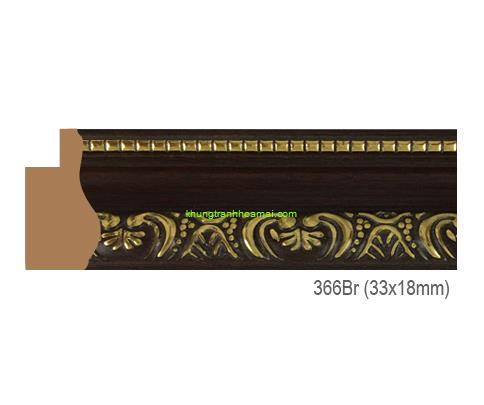 Mẫu khung tranh Khung hình tự chọn thương hiệu phào nẹp Hoa Mai mã 366BR