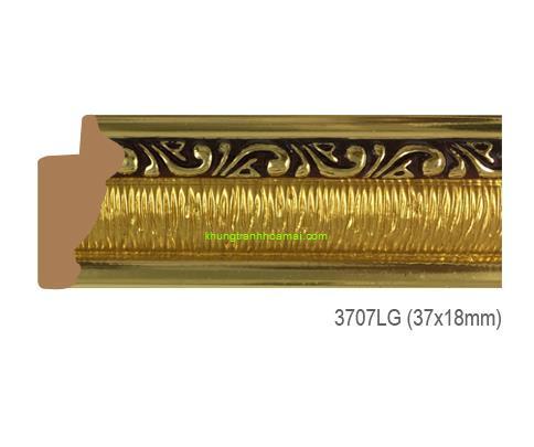 Khung hình tự chọn thương hiệu phào nẹp Hoa Mai mã 3707LG