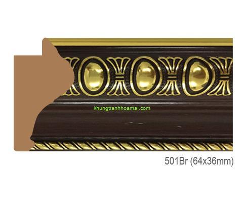 Mẫu khung tranh Khung hình tự chọn thương hiệu phào nẹp Hoa Mai mã 501BR