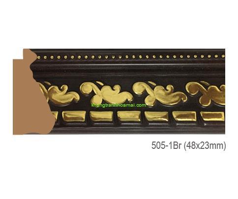 Mẫu khung tranh Khung hình tự chọn thương hiệu phào nẹp Hoa Mai mã 505-1BR