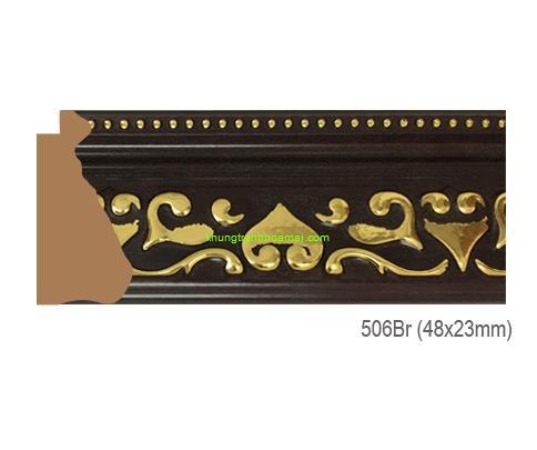 Mẫu khung tranh Khung hình tự chọn thương hiệu phào nẹp Hoa Mai mã 506BR
