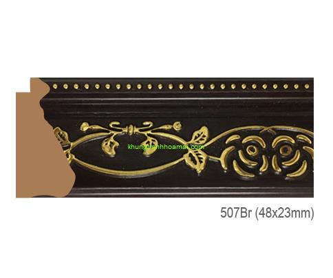 Khung hình tự chọn thương hiệu phào nẹp Hoa Mai mã 507Br