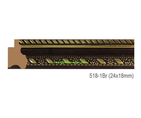 Khung hình tự chọn thương hiệu phào nẹp Hoa Mai mã 518-1BR