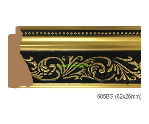 Mẫu khung tranh Khung hình tự chọn thương hiệu phào nẹp Hoa Mai mã 605BG
