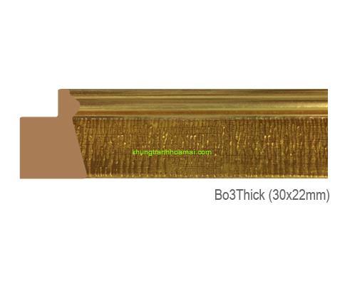 Khung hình tự chọn thương hiệu phào nẹp Hoa Mai mã BO3THICK